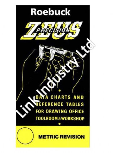 Zeus Precision Data Charts & Reference Tables - Metric Revision